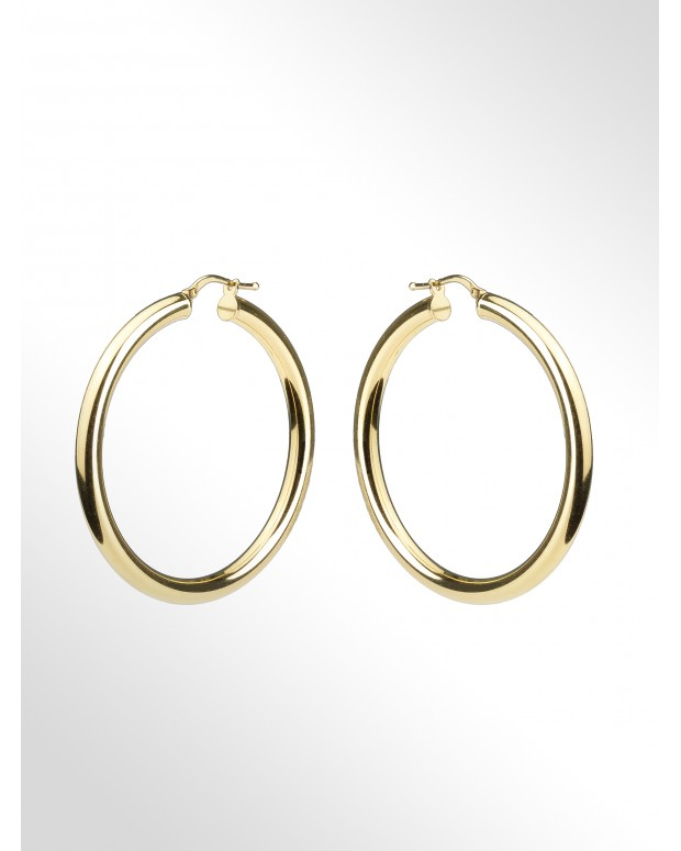 Hoop earrings in sterling...