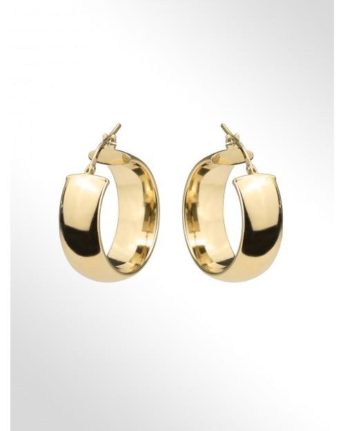 Hoop earrings in sterling silver - Silver Hoop earrings - Creole