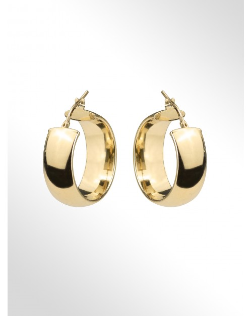 Orecchini a cerchio in argento - Silver Hoop earrings - Creole