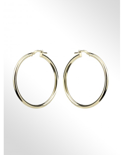 Hoop earrings in sterling silver - Silver Hoop earrings - Creole