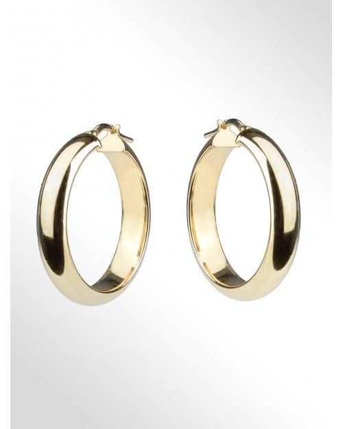 Orecchini a cerchio in argento - Silver Hoop earrings - Creole