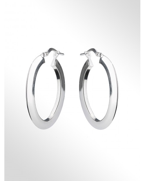 Orecchini a cerchio - Silver Hoop earrings - Creolen