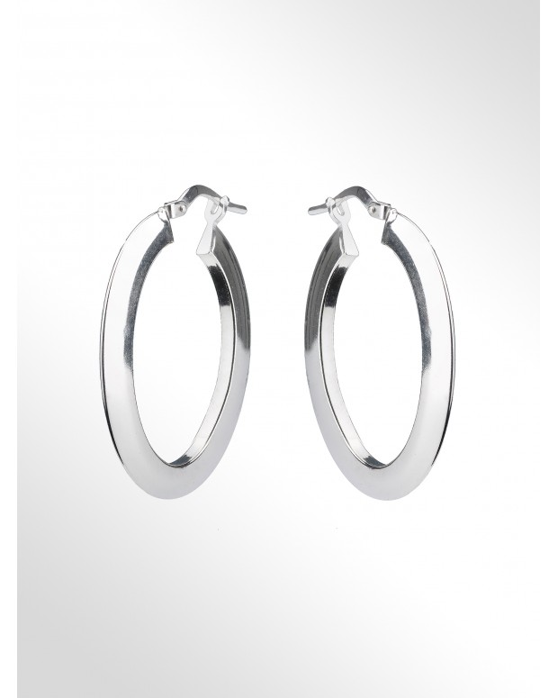 Hoop earrings - Silver Hoop...