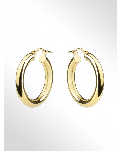 Hoop earrings - Silver Hoop earrings - Creolen