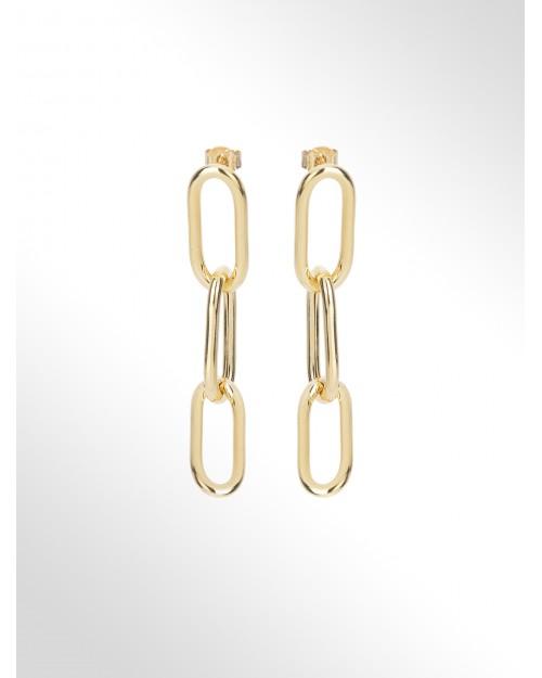 Orecchini in argento - Silver hollow chain earrings - Silberohrringe