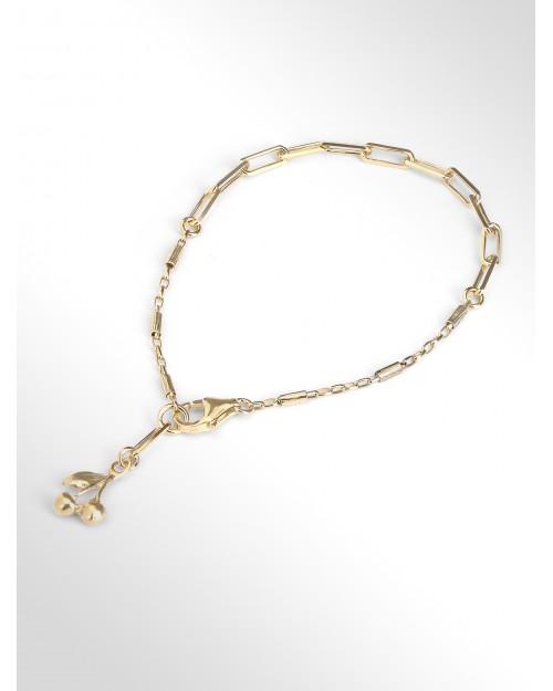 Silver bracelet with charm - Silver bracelet with cherry charm - Silberarmband mit Charm