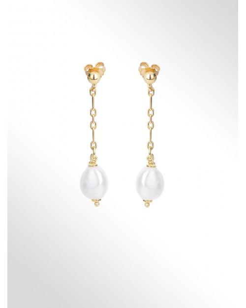 "Orecchini in argento con perle ""barocco"" - Silberohrringe mit Perlen Baroque - Pendientes de plata con perle baroque"