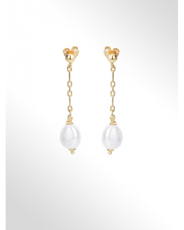 "Earrings with pearls ""baroque"""