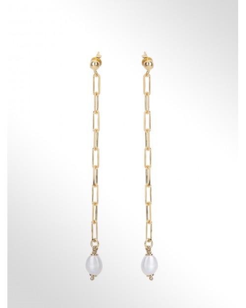 """Orecchini con perle """"barocco"""" - Silverohrringe mit Perle - Boucles d'oreilles en argent avec perle"""