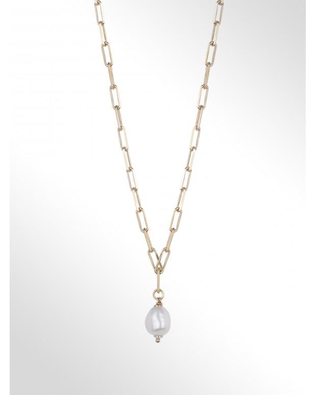 Choker in argento con perla...