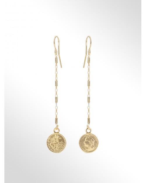 Orecchini in argento con monete - Silberohrringe mit Muenzen - Pendientes de plata con moneda