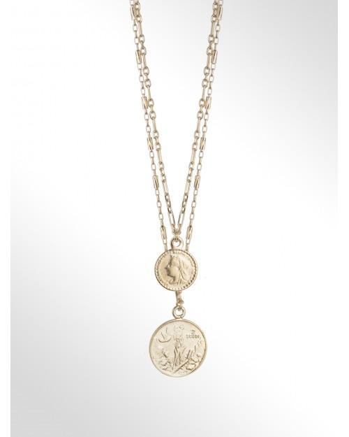 Collana in argento con monete - Silberhalskette mit Charm Muenze