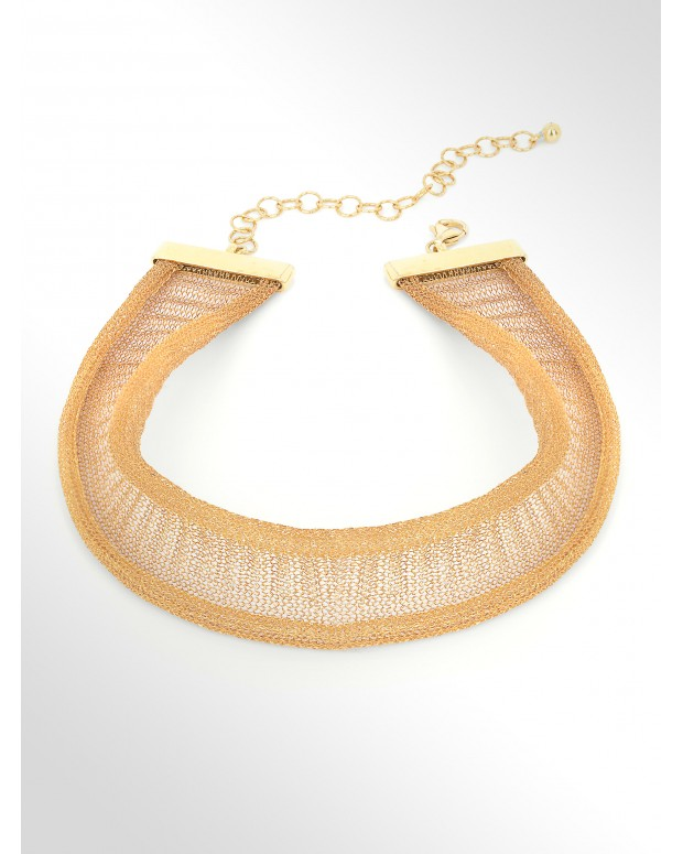 Choker in tessuto d'argento