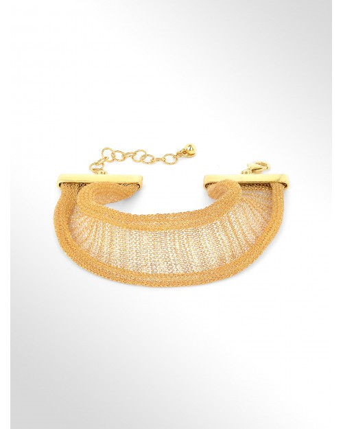Fabric bracelet silver