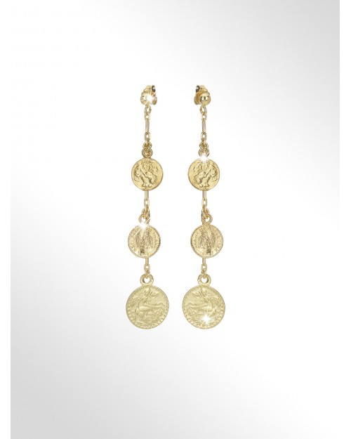 Silver earrings with coins - Silver earrings with coins - Silberohrringe mit Muenzen