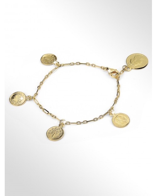 """Bracciale in argento con charms """"antiche monete"""" - Silver bracelet with charms """"coins"""" - Silberarmband mit Charms Muenzen"""