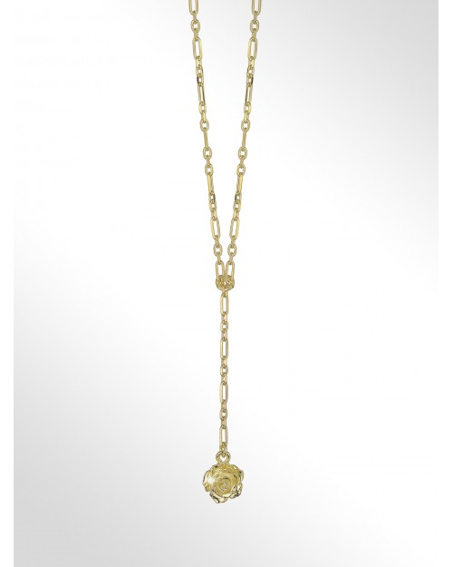 """Collana in argento con charm """"rosa"""" - Silver necklace with charm """"rose"""" - Silberhalskette mit Charm """"Rose"""""""