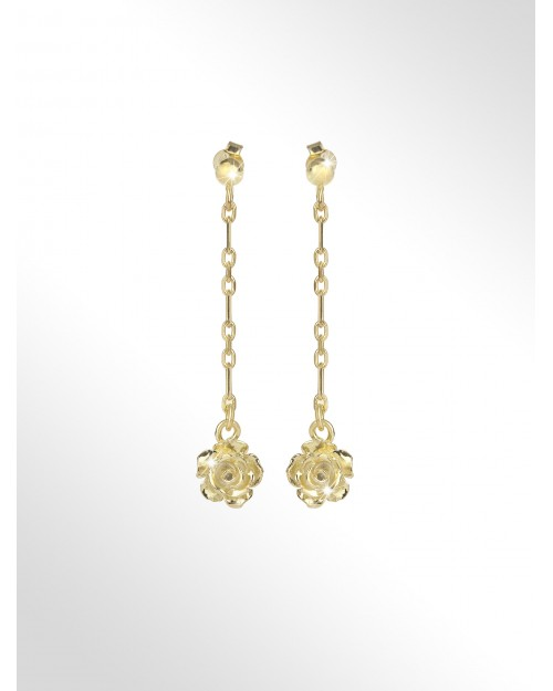 """Orecchini in argento con charm """"rose"""" - Silver earrings with """"roses"""" charms - Silber Ohrringe mit Charms Rosen"""