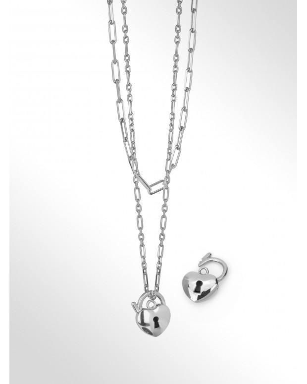 Collana in argento 2-in-1 -...