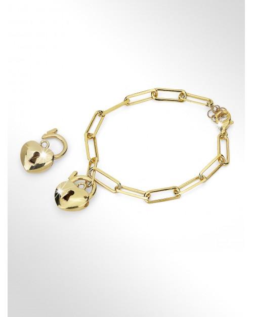 Bracciale in argento 2-in-1 - Silver bracelelt paper clip chain