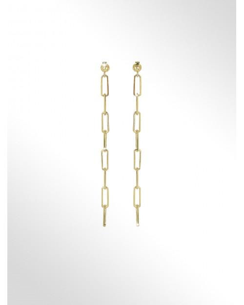 Orecchini in argento - Silver paper clip chain earrings