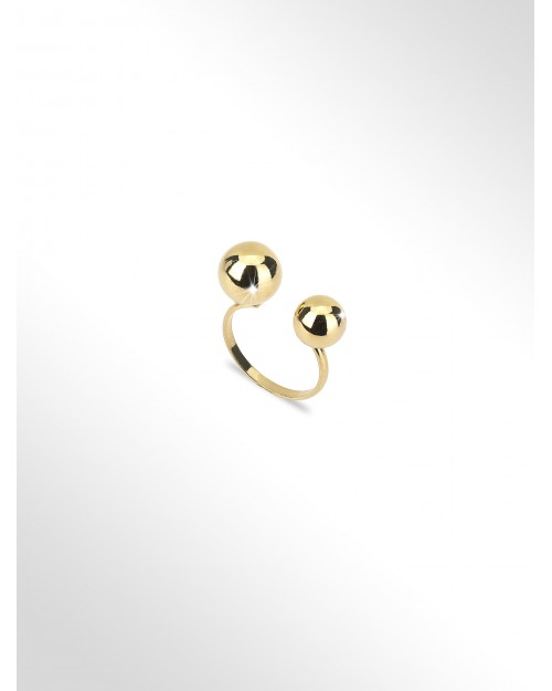 Silver ring - Silver ring with shining beads - Silberring