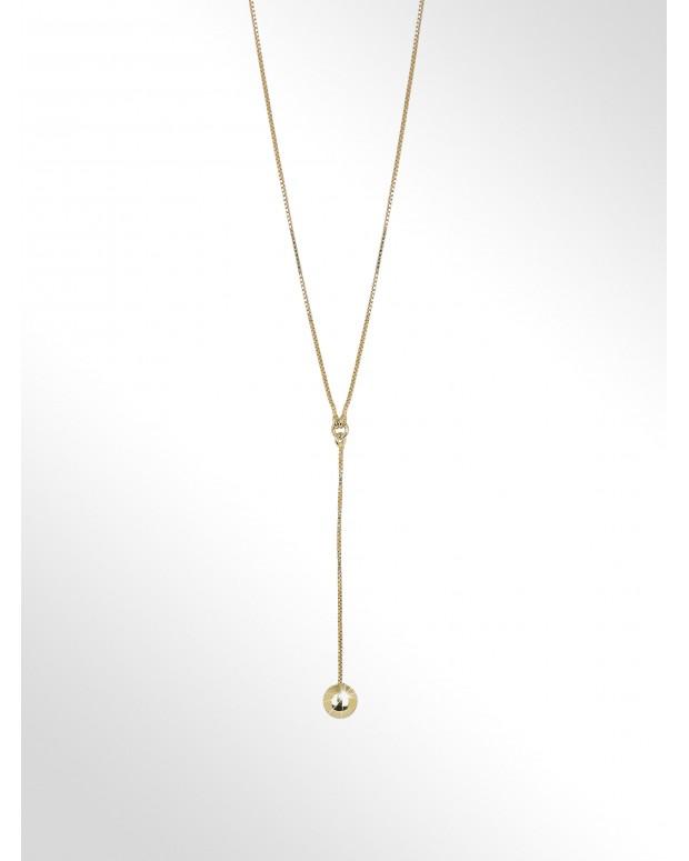 Silver necklace - Silver...