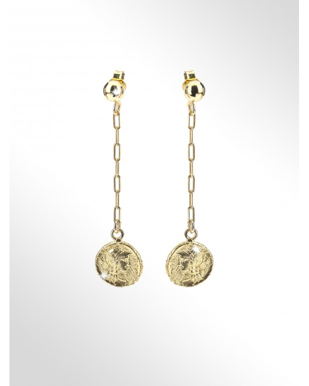 Earrings with silver coins...