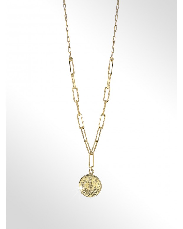 Necklace with coin silver -...